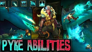PYKE ABILITIES GAMEPLAY SPOTLIGHT NEW CHAMPION - League of Legends New Support Assassin