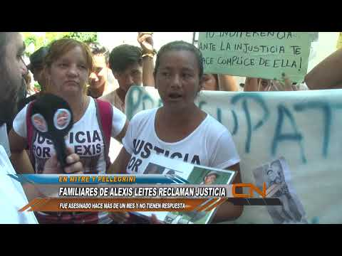 Familiares y amigos de Alexis Leites reclamaron por justicia