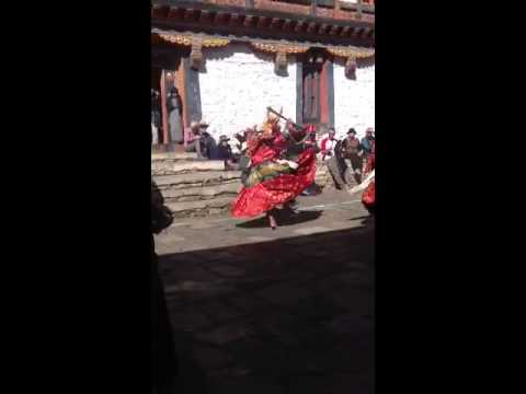 Larry post video of a festival in Bumthang Bhutan