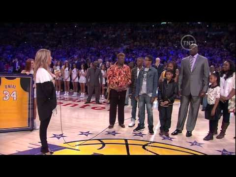 Lakers retires NO.34 (Shaquille O'Neal) April 2,2013 (HD)