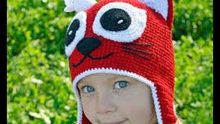 вязаные шапки спицами для девочки