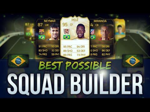 Best Possible Brazil Team! W  Pele & If Neymar - Fifa 15 Ultimate Team Squad Builder video