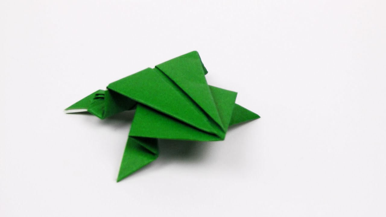 Jumping frog origami - photo#11