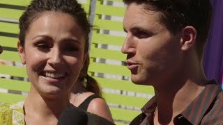 Robbie Amell & Italia Ricci TV & Real-Life Wedding Inteview - 2015 Teen Choice Awards