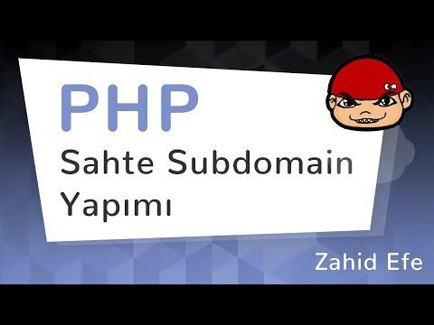 PHP ile Sahte Subdomain Yapımı