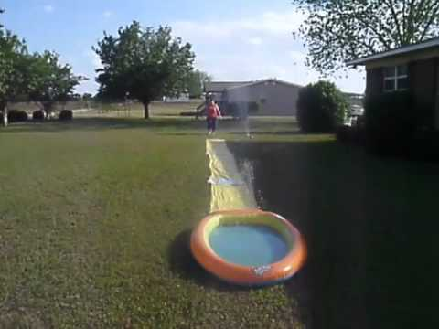 Fully Committed Slip and Slide Fail.