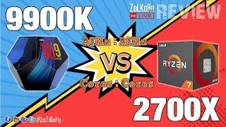 Intel Core i9-9900K ปะทะ AMD RYZEN 7 2700X [MHz:MHz, Core:Core] : ZoLKoRn on Live #242