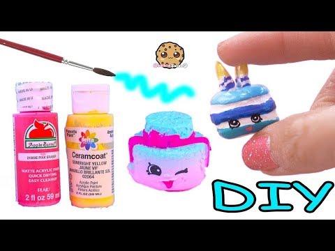 Custom Cake ! DIY Do It Yourself Clay Shopkins Painting Craft Toy Video