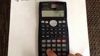 Converting from Degrees to Radians using the calculator (Casio fx-991MS)