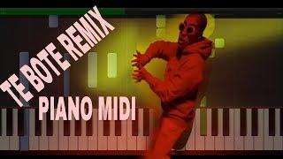 Te Bote Remix Casper Nio García Darell Nicky Jam Bad Bunny Ozuna Piano Midi