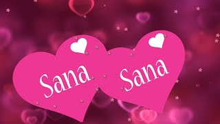 SANA Name whatsapp Status video | S Letter whatsapp status video