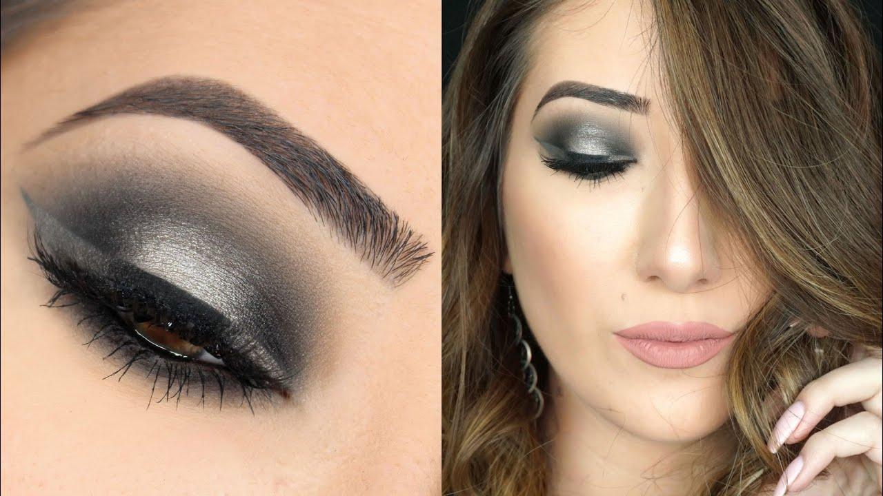 Grey eye makeup