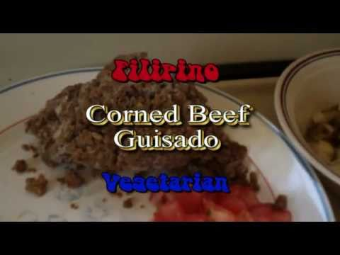 Vegetarian Corned Beef Filipino Guisado by Rainbow