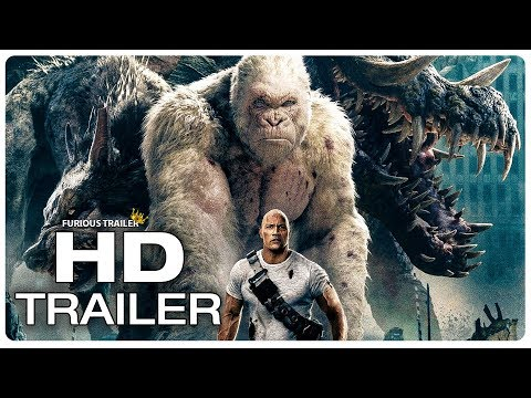 RAMPAGE Movie Clip George vs Giant Crocodile (2018) Dwayne Johnson Monster Movie Full online HD