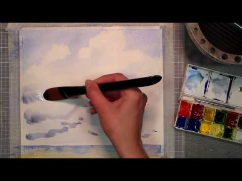 How to Paint Watercolor Clouds How to Paint Cumulus Clouds in