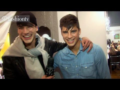 Versace Fall/Winter 2013-14 BACKSTAGE | Milan Men's Fashion Week | FashionTV
