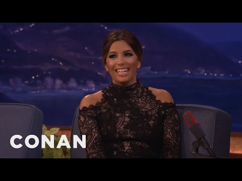 Eva Longoria Nearly Snapchatted Her Wedding Proposal  - CONAN on TBS