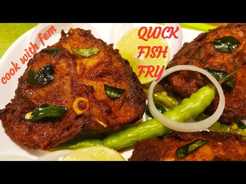 Quick & Easy Fish Fry Recipe - Fried Fish Recipe For Bachelors & Beginners By Cook With Fem