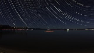 Big Dipper Lake Tahoe Star Trails Time Lapse