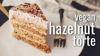 VEGAN HAZELNUT TORTE   hot for food
