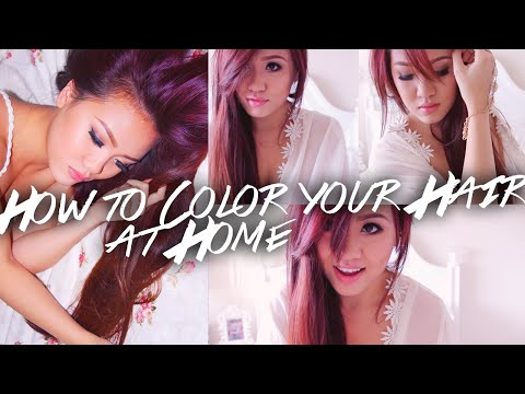 How to Color Your Hair at Home (Drugstore) Red to Purple-Brown Hair