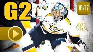 Nashville Predators vs Chicago Blackhawks. 2017 NHL Playoffs. Round 1. Game 2. 04.15.2017 (HD)