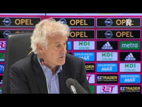 Persconferentie met Fred Rutten en Kenneth Vermeer