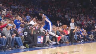 Joel Embiid With No Regard For Human Life As Tries To Save The Ball! Sixers vs Nuggets