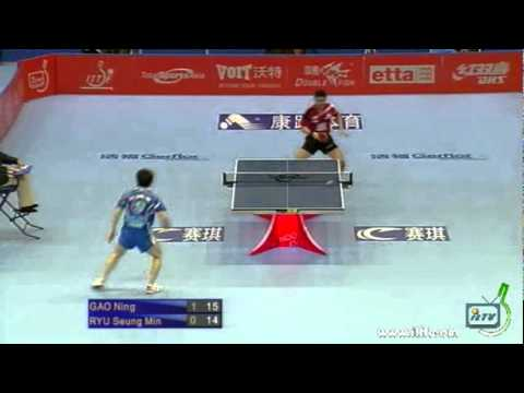 Ryu Seung Min vs Gao Ning[ITTF Pro Tour Grand Finals 2011]