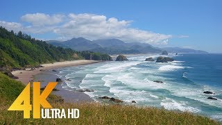 4K Coastal Oregon - Pacific Ocean - Part #2 - 5 Hours Nature Relaxation Video for 4K Oled TV
