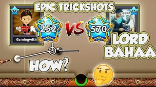 GamingWithK VS Lord Bahaa - Epic Trickshots - Indirect Highlights - Berlin - 8 Ball Pool - Full Hd