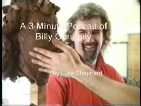 Billy Connolly Sitting for Portrait Sculpture