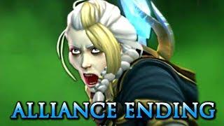 Alliance Ending: Anduin Takes Saurfang Alive - The Siege of Lordaeron (WOW BFA)