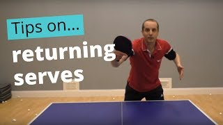 A simplified approach to returning serves
