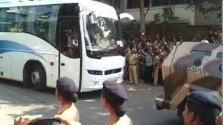 Team India Bus Leaving Wankhede Stadium...
