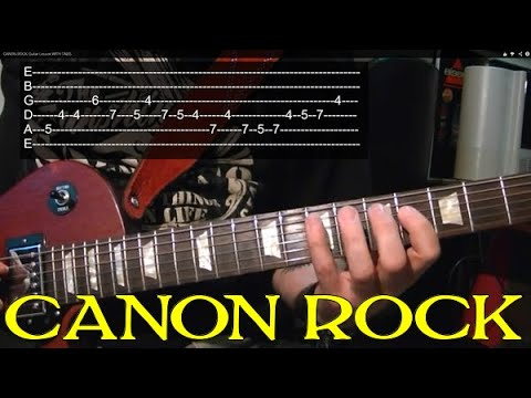 Canon Rock Guitar Lesson With Tabs video