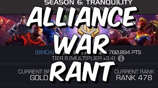 Alliance War Rant - Seasons Are Killing The Game - Marvel Contest Of Champions
