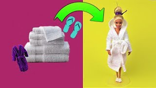 3 Barbie Hacks and Toy Crafts - Diy Barbie Bathrobe