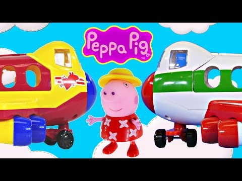 PEPPA PIG Holiday Jet Vacation Toy Episodes Peppa Pig Airplane Travel and Luggage Playset