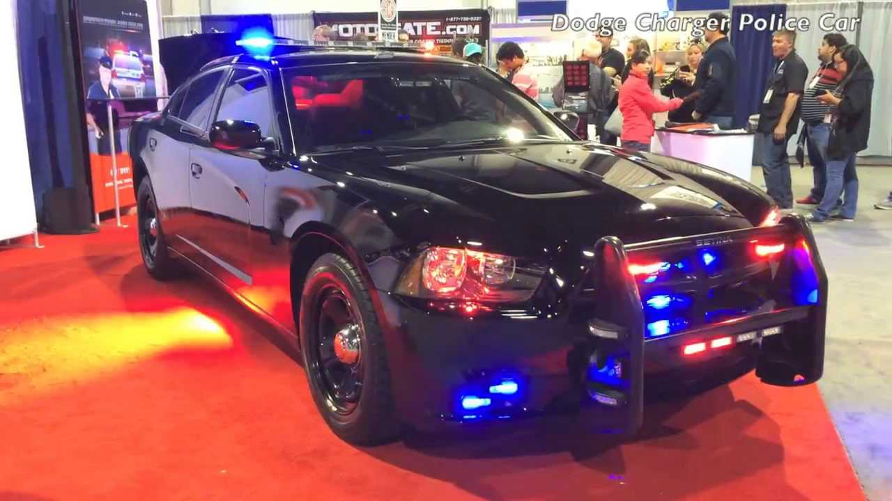 2013 2014 Dodge Charger Police Car Lights Flashing Youtube