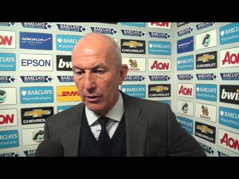 Tony Pulis is interviewed after Albion's 1-0 victory at Manchester United