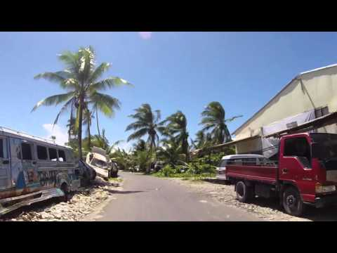 Tuvalu Funafuti Route vers le côté Nord, Gopro / Tuvalu Funafuti Road to North coast, Gopro