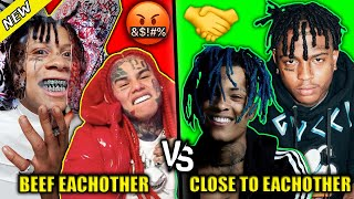 RAPPERS THAT HAVE BEEF WITH EACH OTHER  VS RAPPERS THAT ARE CLOSE TO EACHOTHER
