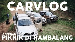 OFFROAD AT HAMBALANG PART 2 - LAND CRUISER PRADO, NAVARA, PAJERO SPORT (4X4)  #CARVLOG INDONESIA
