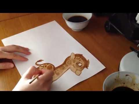Рисуем с помощью кофе