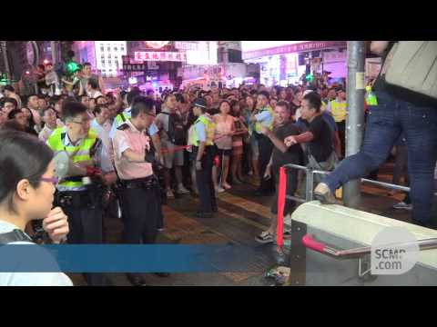 Anti-Occupy protesters attack demonstrators in Mong Kok