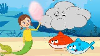 Mermaid Befriends Baby Shark and Cloud + More Kids Videos & Songs for Children