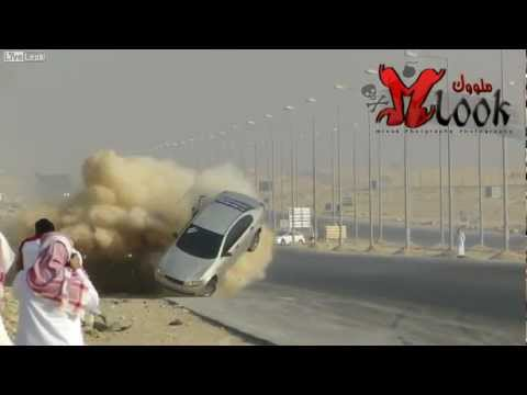 Spectacular Crash During Saudi Drift 2012 HD