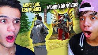 FINGIU SER POBRE E FOI HUMILHANDO NO FREE FIRE! - RAFÃO TV