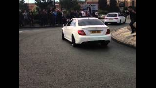 Mercedes c63 amg crash at the gumball get together manchester 28/09/2014